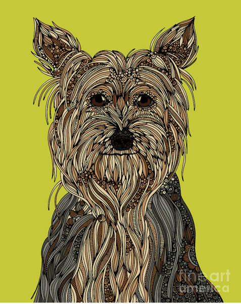 Terrier Digital Art - Yorkshire Terrier by MGL Meiklejohn Graphics Licensing