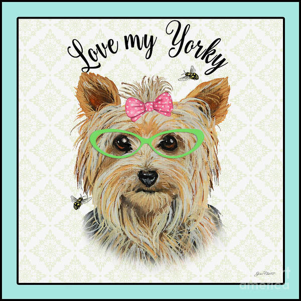 Yorkshire Terrier Painting - Yorky-jp3867 by Jean Plout