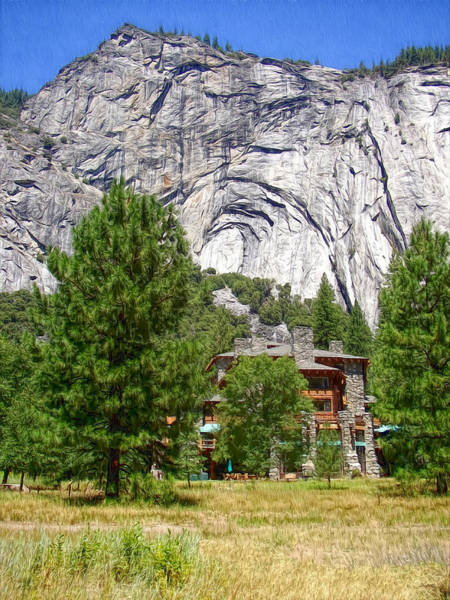 Photograph - Yosemite - Ahwahnee Hotel And Granite Cliffs by Glenn McCarthy Art and Photography