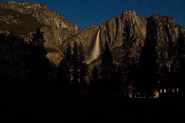 Wall Art - Photograph - Yosemite Falls In The Moonlight by Jim Dohms