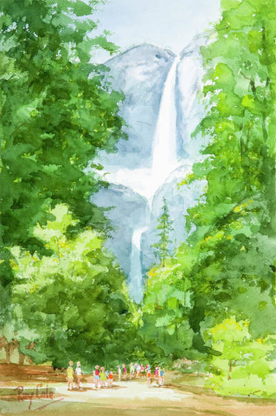 Spectacular Painting - Yosemite Falls by Ray Cole
