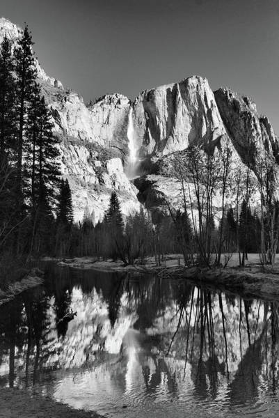 Yosemite Falls Reflections Art Print by Stephen  Vecchiotti
