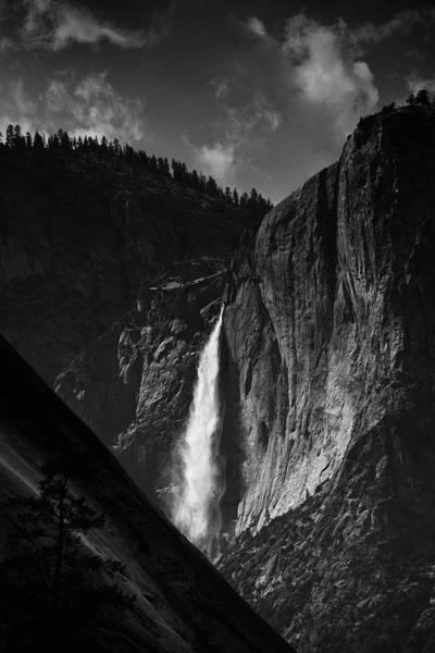 Photograph - Yosemite Falls Vista Black White by Kyle Hanson