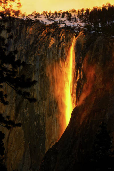 Art Print featuring the photograph Yosemite Firefall by Greg Norrell