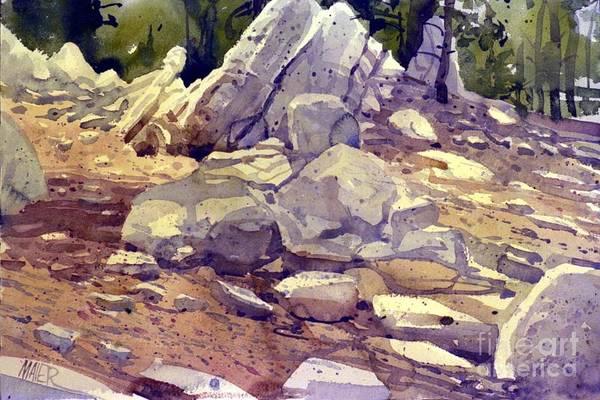Alpine Meadow Painting - Yosemite Granite by Donald Maier