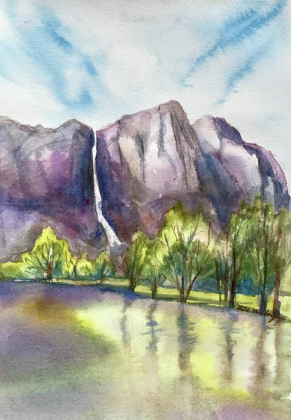 Painting - Yosemite by Hilda Vandergriff