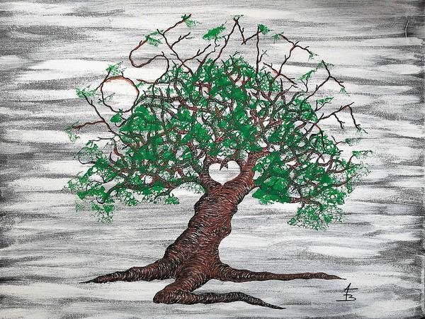 Drawing - Yosemite Love Tree by Aaron Bombalicki