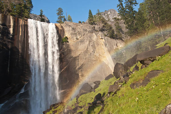 Photograph - Yosemite Mist Trail Rainbow by Shane Kelly