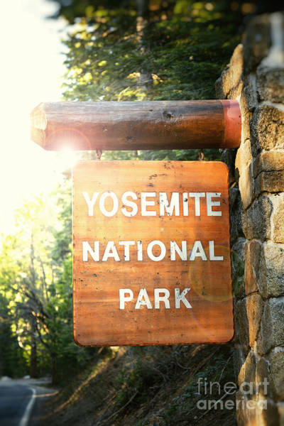 Wall Art - Photograph - Yosemite National Park Sign by Jane Rix