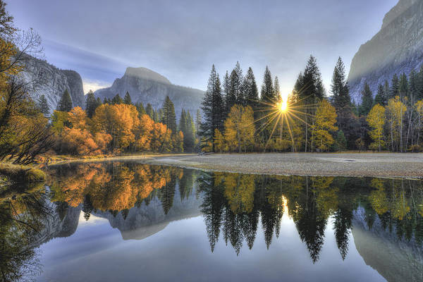 Photograph - Yosemite Reflections by Mark Whitt