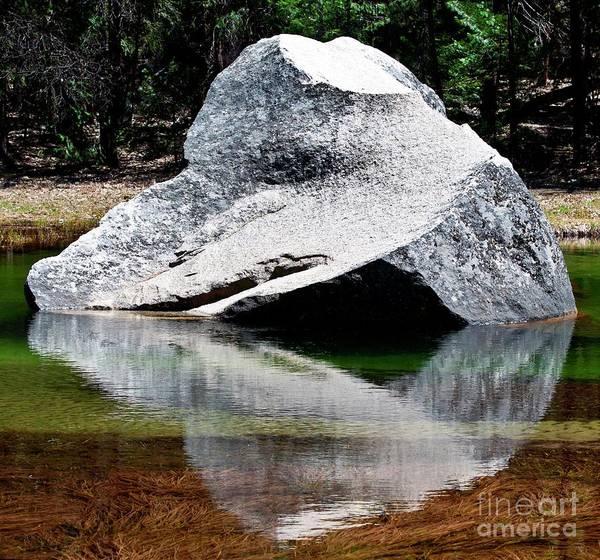Wall Art - Photograph - Yosemite Rock Reflection At Mirror Lake by Loriannah Hespe