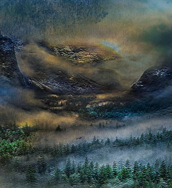 Digital Art - Yosemite Surrealism by Digital Art Cafe