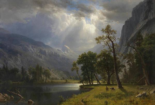 Hudson Valley Wall Art - Painting - Yosemite Valley, 1866 by Albert Bierstadt