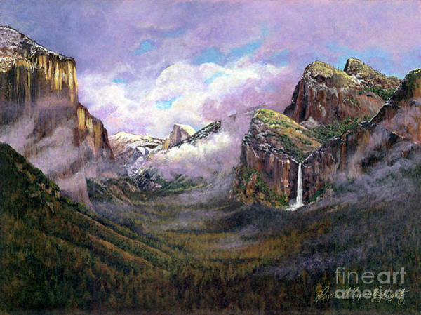 Thumb Painting - Yosemite Valley by Maxine Caprioli-Hight
