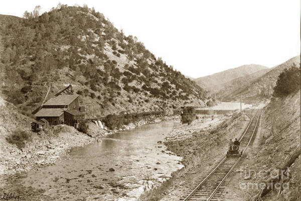 Photograph - Yosemite Valley Railroad At The Mine E. A. Cohen Photo Sept. 7 1907 by California Views Archives Mr Pat Hathaway Archives