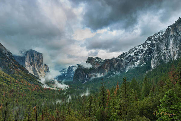Yosemite Valley Storm Art Print