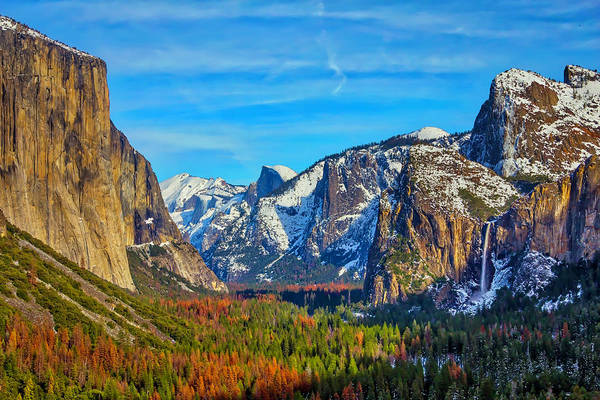 Yosemite Valley Tunnel View Art Print