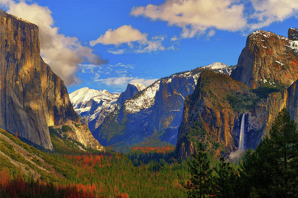 Photograph - Yosemite Valley Tunnel View by Greg Norrell