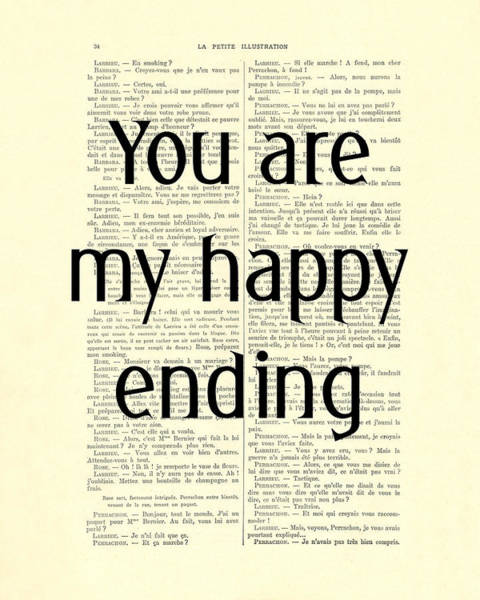 Wall Art - Digital Art - You Are My Happy Ending by Madame Memento