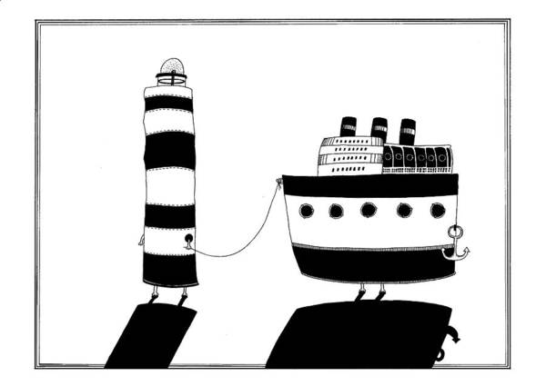 Wall Art - Drawing - You Are My Lighthouse by Anastassia Neislotova