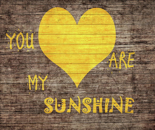 Mixed Media - You Are My Sunshine Barn Door by Dan Sproul