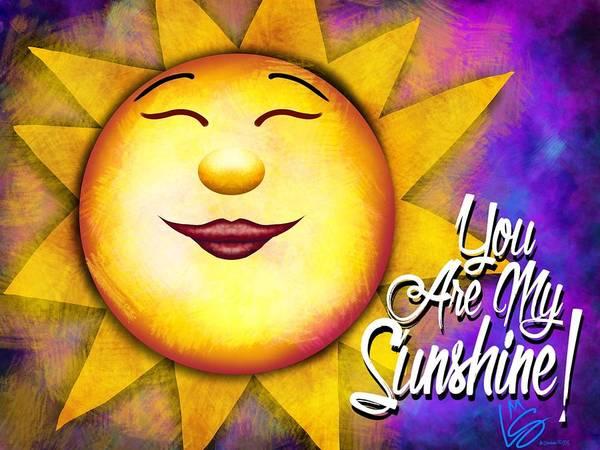 Digital Art - You Are My Sunshine by Lisa Schwaberow