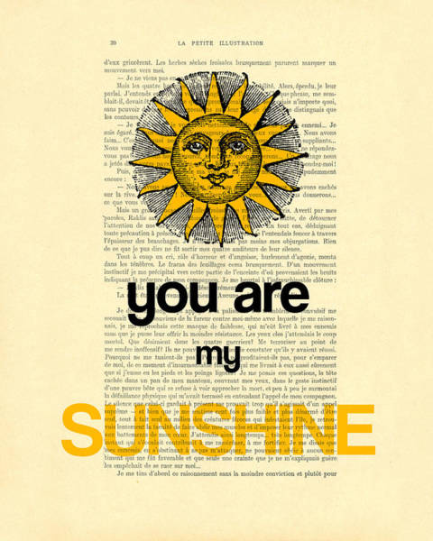 Valentines Digital Art - You Are My Sunshine by Madame Memento