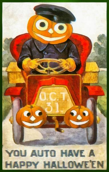 Photograph - You Auto Have A Happy Halloween by Unknown