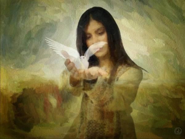 Dove Digital Art - You Bird Of Freedom And Peace by Gun Legler