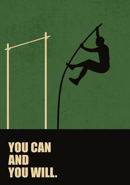 Hard Work Digital Art - You Can And You Will Life Inspirational Quotes Poster by LabNo4