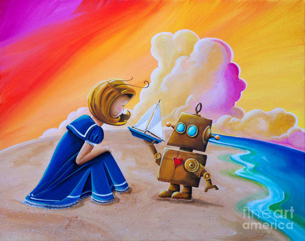 Wall Art - Painting - You Can Be Captain by Cindy Thornton