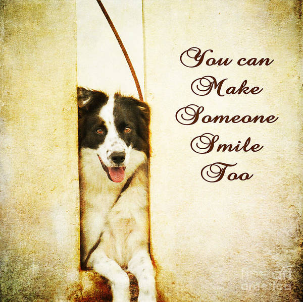 Photograph - You Can Make Someone Smile Too by James Hennis