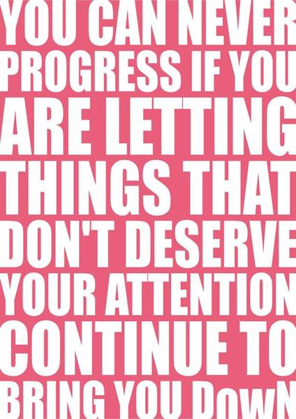 Fitness Digital Art - You Can Never Progress If You Are Letting Gym Inspirational Quotes Poster by Lab No 4