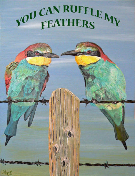 Painting - You Can Ruffle My Feathers  by Eric Kempson