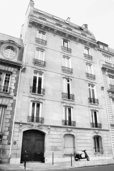 Photograph - You Have Arrived At 64 Rue De Courcelles Black And White by Angela Rath