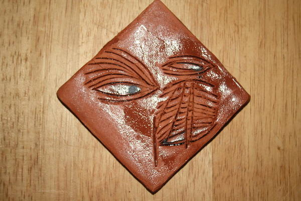 Ceramic Art - You Hear - Tile by Gloria Ssali