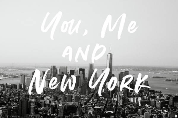 News Mixed Media - You Me And New York- Art By Linda Woods by Linda Woods