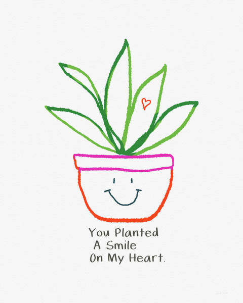 Mixed Media - You Planted A Smile- Art By Linda Woods by Linda Woods