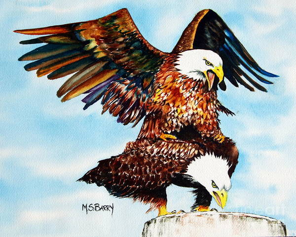 Painting - You Ruffle My Feathers by Maria Barry