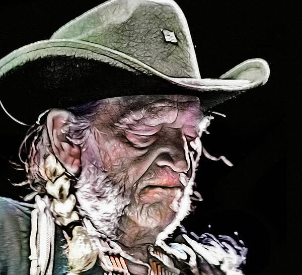 Wall Art - Digital Art - You Were Always On My Mind, Willie Nelson by Mal Bray