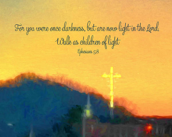 Photograph - You Were Once Darkness Cross At Sunset by Denise Beverly