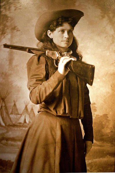 Wall Art - Photograph - Young Annie Oakley by Thomas Woolworth
