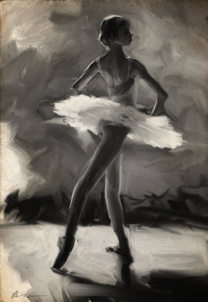 Wall Art - Digital Art - Young Ballerina by H James Hoff