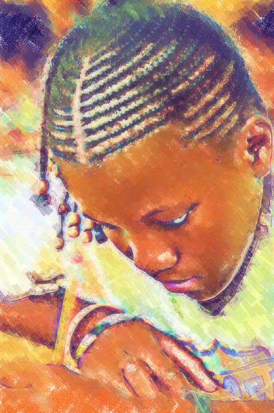 Photograph - Young Black Female Teen 2 by Ginger Wakem