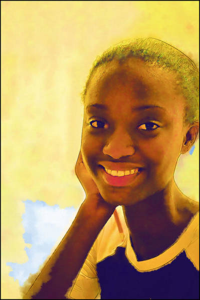 Photograph - Young Black Female Teen 3 by Ginger Wakem