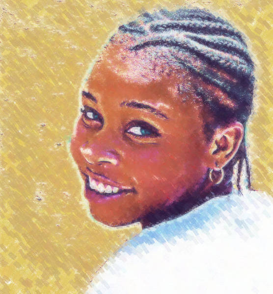 Photograph - Young Black Female 6 by Ginger Wakem