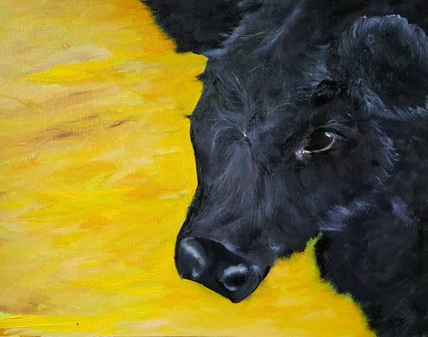Painting - Young Bossie     99 by Cheryl Nancy Ann Gordon