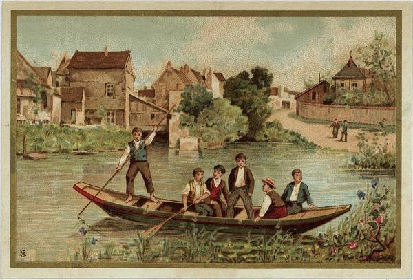 Wall Art - Photograph - Young Boys On Riverboat Landscape by Gillham Studios