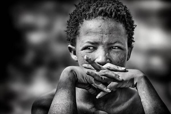 Black Woman Wall Art - Photograph - Young Bushmen Woman by Piet Flour