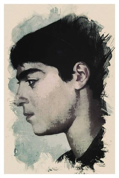 Painting - Young Faces From The Past Series By Adam Asar, No 14 by Adam Asar